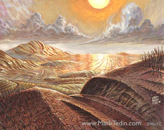Mirrodin Plains Art