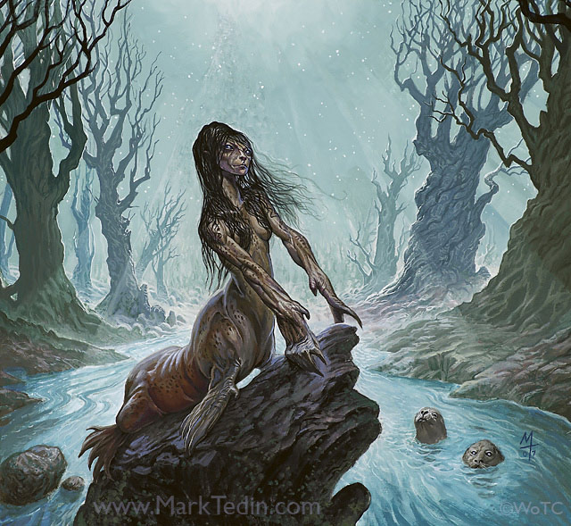 Wistful Selkie Card Art